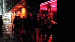 Line for Night Club Stock Footage