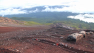 Stock Video Footage of Time Lapse On Top of Mt Fuji