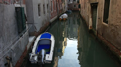 Quiet Venice canal Stock Footage