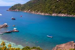 Nang Yuan island in Thailand Stock Photos