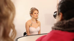 Wedding make-up photo-session Stock Footage