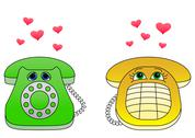 Stock Illustration of Desktop phones-enamoured