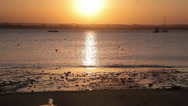 Stock Video Footage of Sunset over Ocean