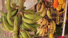 Stock Video Footage of Bananas Close