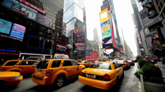 Times Square, New York, USA Stock Footage