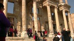 Library Of Celsus at Ephesus in Turkey Stock Footage