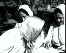 1920 - 1930 - Turkish WomenWorking 01 Stock Footage