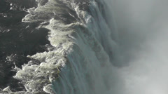 Aerial of Victoria Falls - stock footage