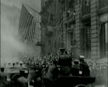 1920 - General Pershing - Driving Lower Broadway 01 Stock Footage