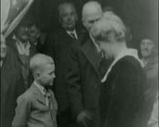 1920 - General Pershing - His Sister & Son 01 Stock Footage