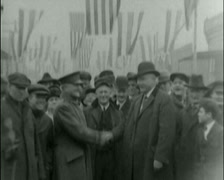1920 - General Pershing - Pershings Home - Civil War Veterans 01 Stock Footage