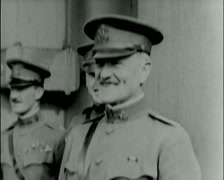 1920 - General Pershing - Staff, Gen. March, Gen. Secretary Baker Stock Footage