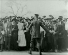 1920 - General Pershing - Pershing Visits Battery Park 01 Stock Footage