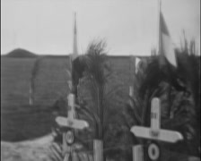 1932 - US graves Of WW1 soldiers 01 - stock footage