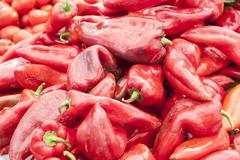 Red pointed paprika - stock photo