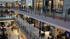 Dubai Mall Shoppers Shopping Design Luxury Clothing Shoes Fashion Festival City - stock footage