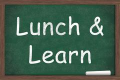 lunch and learn - stock illustration