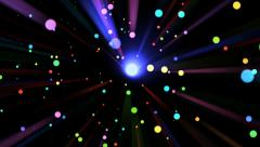 Rainbow Light Drops and Rays - 01 Stock Footage