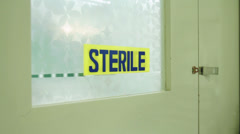 Sterile Area - stock footage
