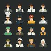 Stock Illustration of people icon ,professions icons , worker set