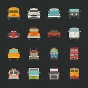 Auton kuvakkeet, liikenne Piirros