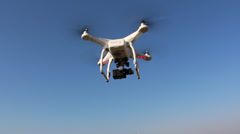 UAV in the air - stock footage