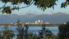 Anchorage City profile scene 1 Stock Footage