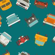 Seamless cars background and pattern Stock Illustration