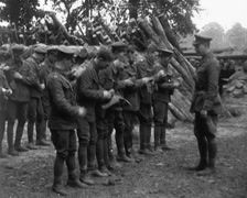 WW1 - French Soldiers Gas Attack Nearby 01 Stock Footage