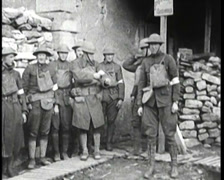 WW1 - French Soldiers In Trenches 22 Stock Footage