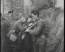 WW1 - French Soldiers Using Gas Masks 01 - stock footage