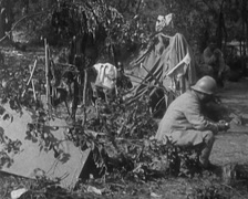WW1 - French Soldiers Working Near Frontline 01 Stock Footage