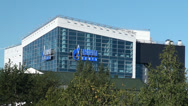 "Stock Video Footage of Office building ""Gazprom Neft"" in Khanty-Mansiysk."