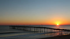 Nags head sunrise Stock Footage