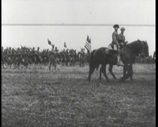 WW1 - US - Fresh US troops Arriving In France 03 Stock Footage