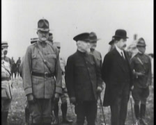 WW1 - US - General Pershing Inspecting Troops 01 Stock Footage
