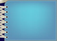 blue background with lacing - stock illustration
