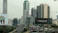 Stock Video Footage of Thailand Bangkok 005 skyscrapers at the highway