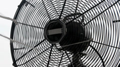 Retro electric fan closeup over white Stock Footage