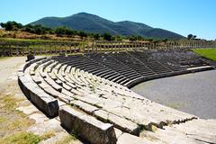 The stadium in ancient messene (messinia), peloponnes, greece Stock Photos