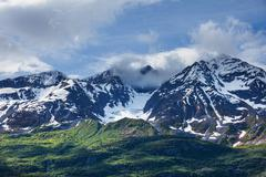 mountains on alaska - stock photo