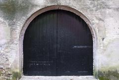 alley entrance - stock photo