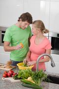 Rakastuminen keittiössä Kuvituskuvat
