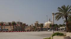 Beautiful Dome Minaret Farooq Mosque Old Town Bastakiya Quarter Bur Dubai Tower Stock Footage
