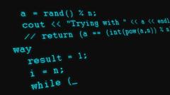 Scrolling programming code - stock footage