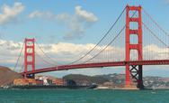Stock Photo of golden gate bridge.