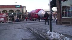 Budweiser hot air balloon. Wide shot. #1 Stock Footage