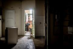 Light through window at corridor Stock Photos