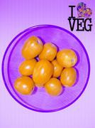 tomato, lycopersicon esculentum, go veg, concept - stock photo