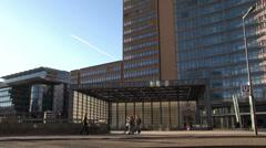 163 Berlin, Potsdamer Platz, trainstation Stock Footage